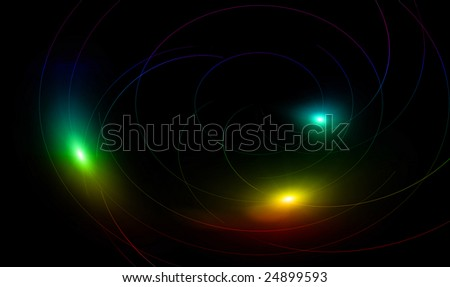 Black background with colorful sparks