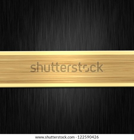Black background with gold strip - stock photo
