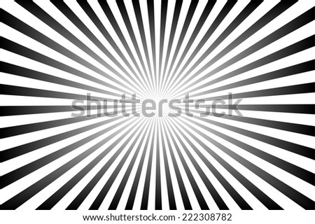 black background with sun rays. - stock photo