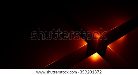 Black background with three-dimensional cubes - stock photo