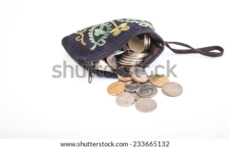 Black Bag and Coin