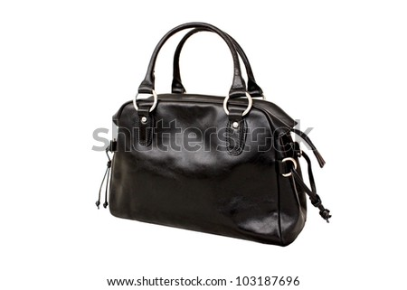 Black bag isolated - stock photo