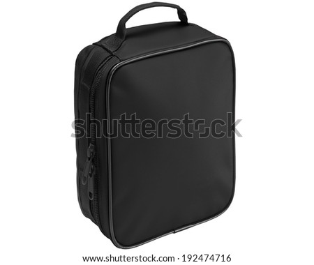 Black bag isolated on a white background. - stock photo