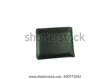 Black bag of pocket money on isolated white background