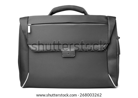 Black bag on white background - stock photo
