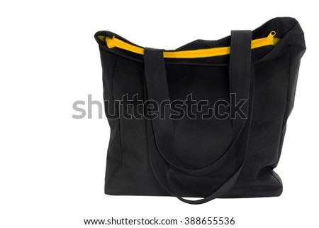 black bags, isolated , clipping path , space