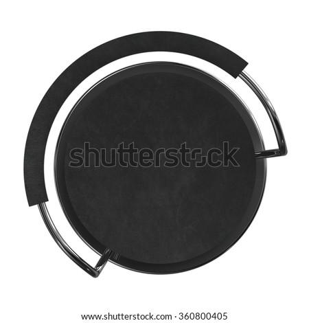 Black Bar Stool Top View Stock Illustration 360800405