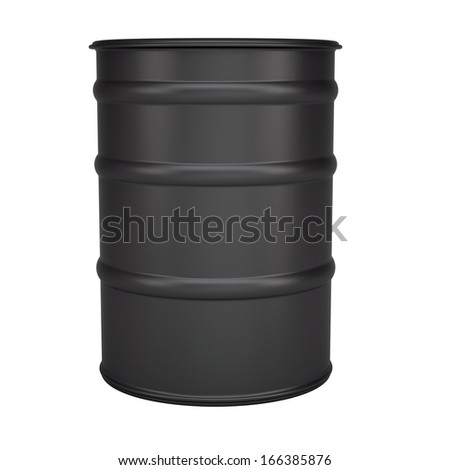 Black barrel. Isolated render on a white background