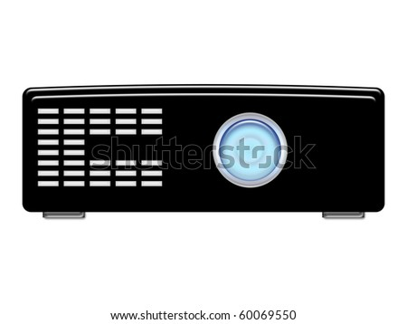 Black Beamer with blue lamp - stock photo