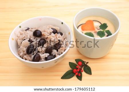 Black bean rice - stock photo