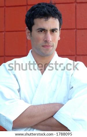 black belt instructor - stock photo