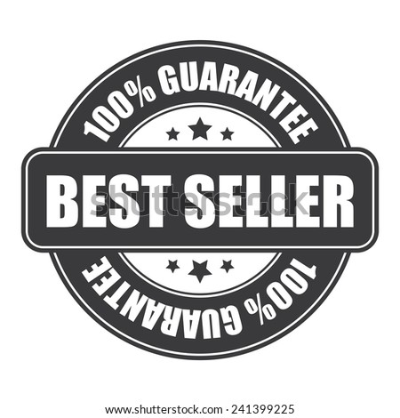Black best seller 100 guarantee icon tag label badge sign