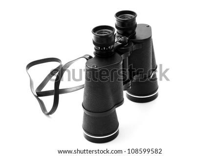Black Binoculars - stock photo