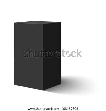 Black blank box - stock photo