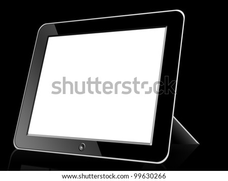 Black blank Digital LCD Frame isolated on white background. - stock photo