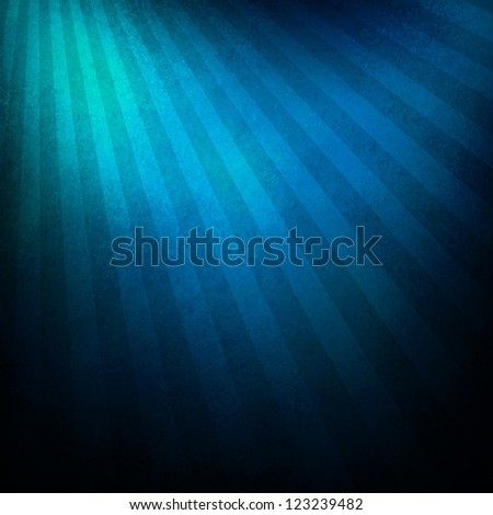 black blue background retro striped layout, sunburst abstract background texture grunge pattern, vintage grunge background sunrise design, old black border, bright colorful fun paper, blue color - stock photo
