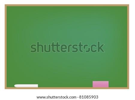 Black board - stock photo