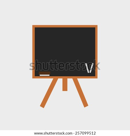 black board on tripod