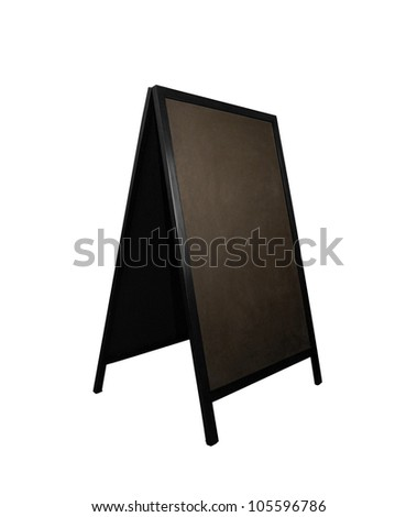 Black board restaurant isolated - stock photo