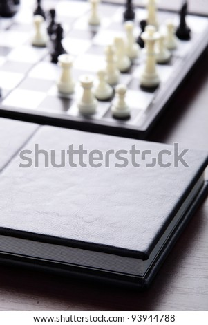 black book on the table - stock photo