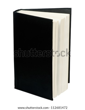 Black book on white background
