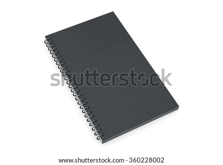 Black book with hardcover