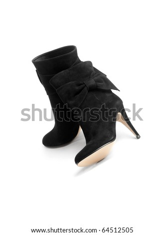 Black Boots with Bows