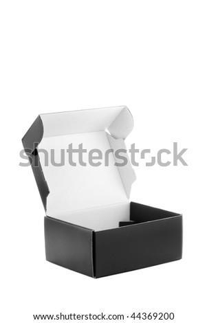 Black box isolated - stock photo