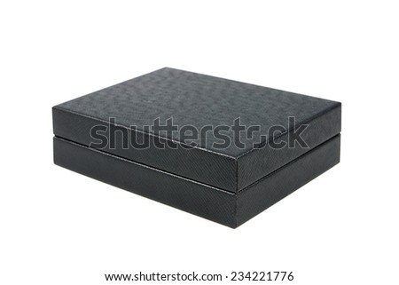 black box isolated on white - stock photo