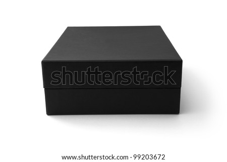 Black box isolated on white - #4 - stock photo