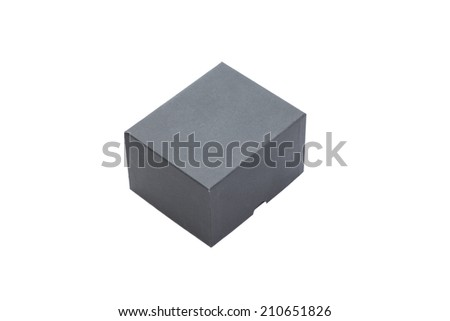 black box on white background  - stock photo