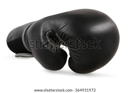 Black boxing gloves isolated on white