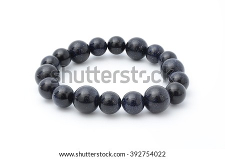 Black bracelet isolated