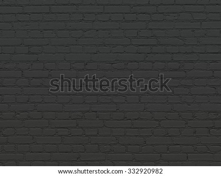 Black brick wall for texture or background  - stock photo