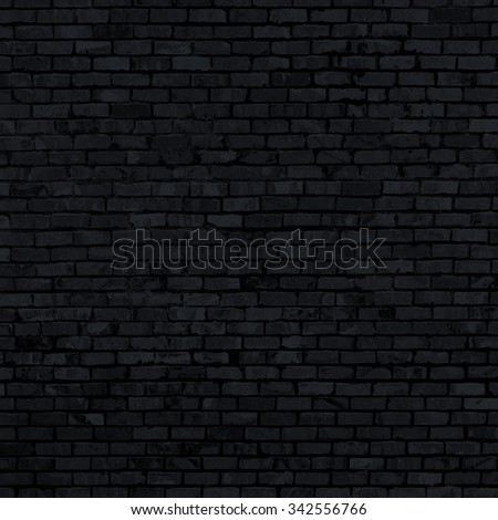 black brick wall texture - grunge abstract background - stock photo