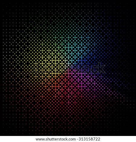 Black business abstract background with color gradients. Raster version - stock photo