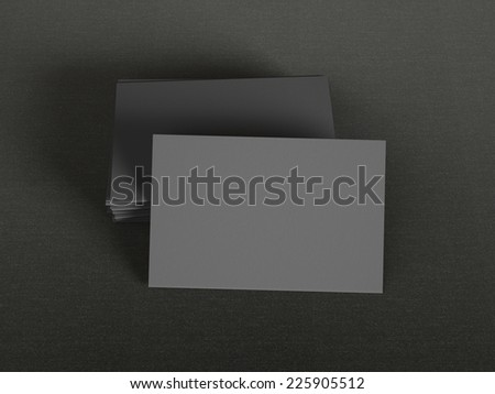 Black business cards on dark background - stock photo