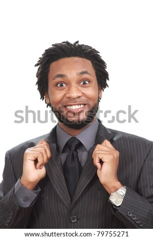 Black businessman - stock photo