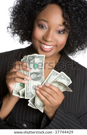 Black Businesswoman Holding Money