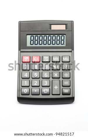 Black Calculator on white background