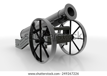 Black Cannon, isolated object