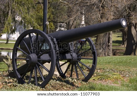 black cannon memorial in historic spring grove cemetery