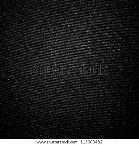 black canvas fabric texture background with natural oblique stripes pattern - stock photo