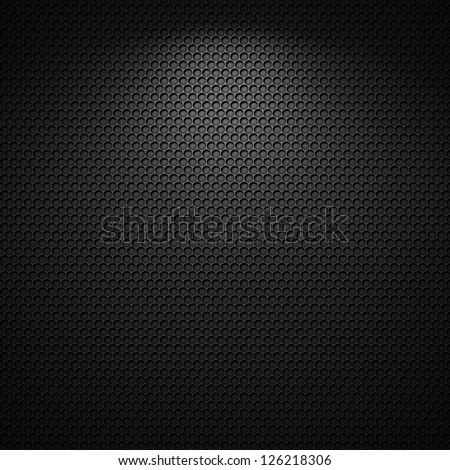 Black carbon pattern texture background - stock photo