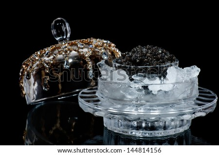 Black caviar - stock photo