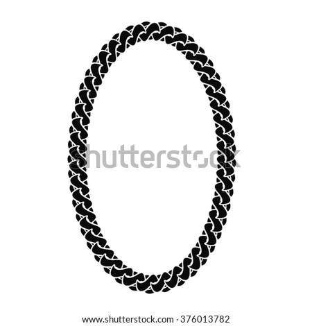 Black Chain Oval Frame