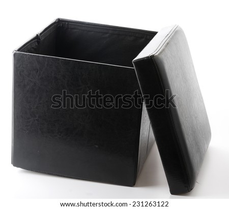 black chair box design for putting somethings - stock photo
