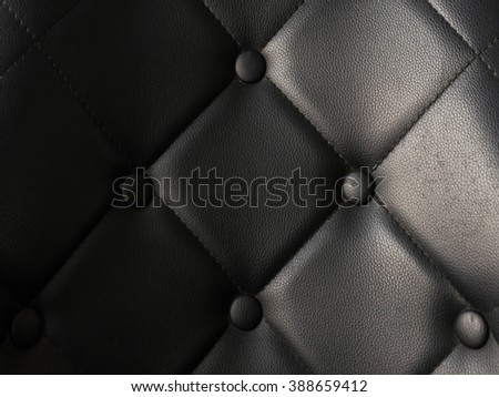 Black chair close up  - stock photo