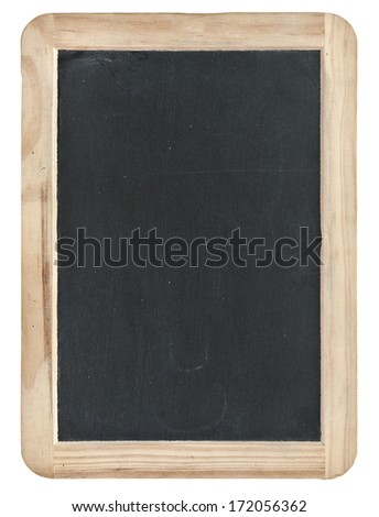 black chalk board withe clipping path