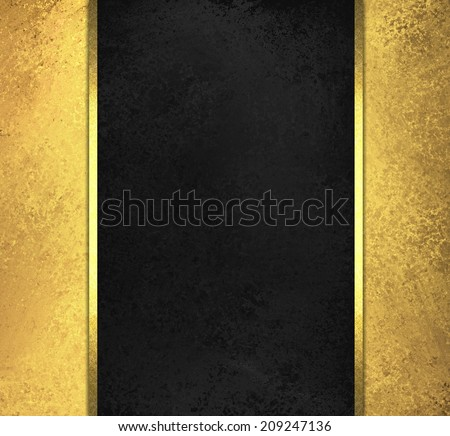 black chalkboard background yellow sidebar panels with gold ribbon trim accent - stock photo